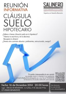 SALINERO-ABOGADOS-CARTEL-BENAVENTE-CLÁUSULA SUELO HIPOTECARIO BENAVENTE